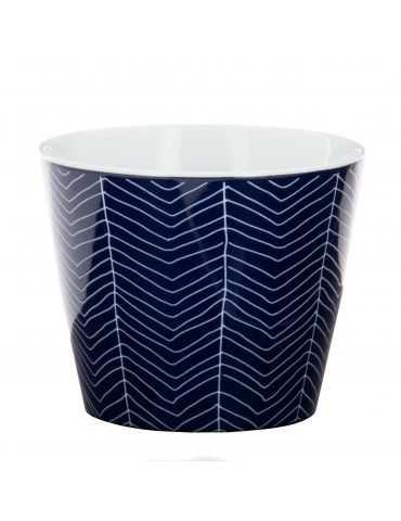 """Tasse Soba """"Bleu de Nîmes"""" Chevrons"""