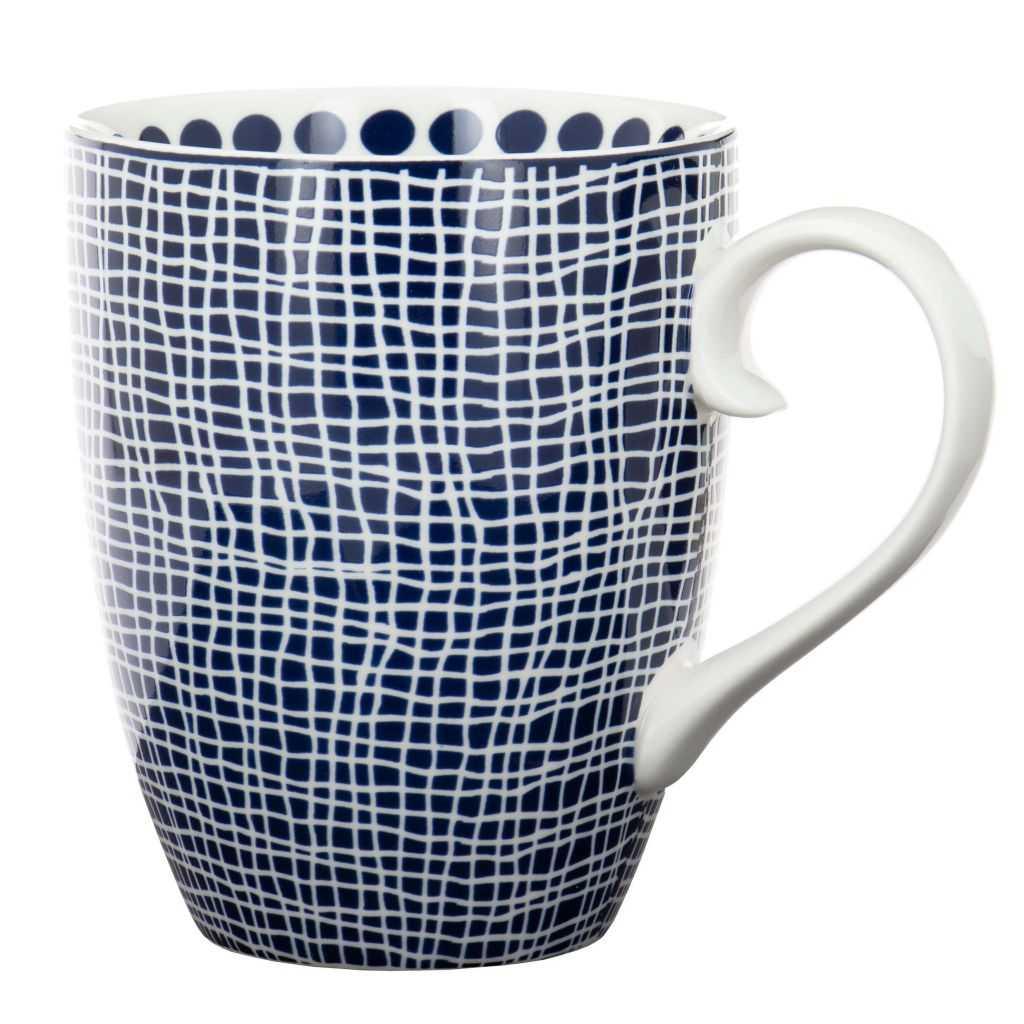 """Mug """"Bleu de Nîmes"""" Quadrille"""