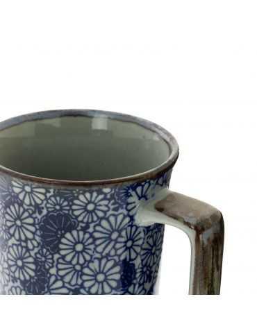 Mug en grès - Fleurs Denses