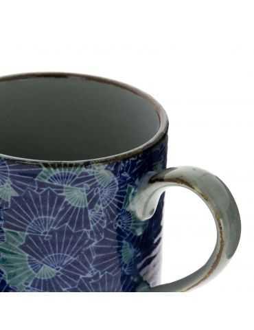 Petit mug en grès - Éventails