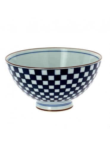 BOWL - CHECKED PATTERN