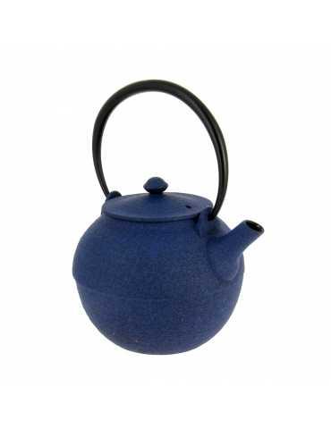 Théière Fonte Wazuqu Ikime Bleue 0.55L - Bonthes