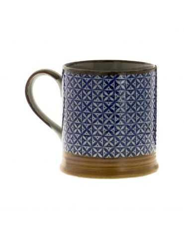 Petit mug en grès - Carreaux