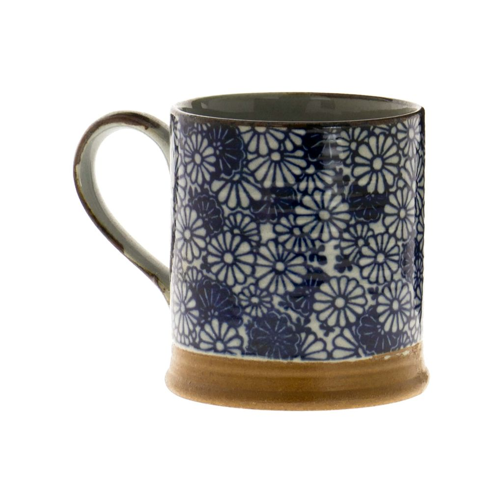 Petit mug en grès - Fleurs Denses