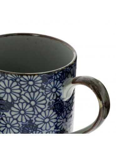 Petit mug en grès - Fleurs...