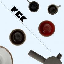 Jeux de matières - service à thé en béton brut et vernis - Par Frédérick Gauthier dans le Xème arrondissement. Disponible chez Bonthés. #céramique #bol #theiere #tasse #artisanat #brut #fck #paris #thé  #béton #btp