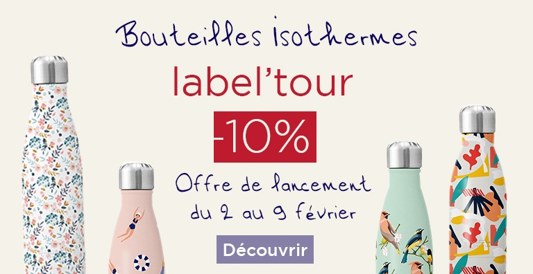 Bouteille isotherme label'tour